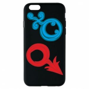 """Phone case for iPhone 6/6S Signs """"He"""" and """"She"""""""