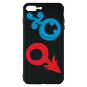 """Phone case for iPhone 8 Plus Signs """"He"""" and """"She"""""""
