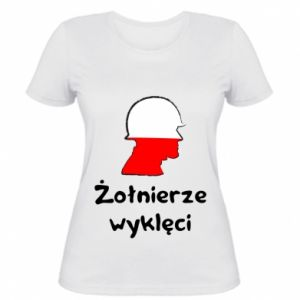 Women's t-shirt Cursed soldiers - flag of Poland