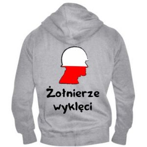 Men's zip up hoodie Cursed soldiers - flag of Poland - PrintSalon