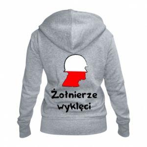 Damska bluza na zamek Żołnierze wyklęci - flaga Polski