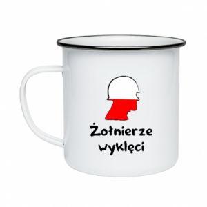 Enameled mug Cursed soldiers - flag of Poland - PrintSalon