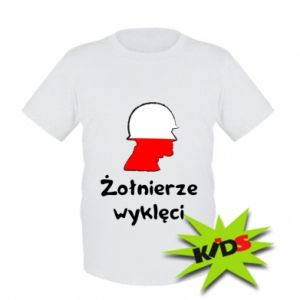 Kids T-shirt Cursed soldiers - flag of Poland