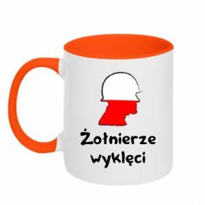 Two-toned mug Cursed soldiers - flag of Poland - PrintSalon