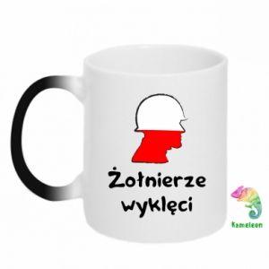 Kubek-kameleon Żołnierze wyklęci - flaga Polski