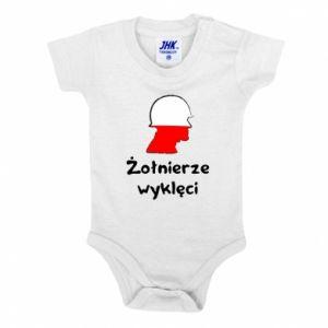 Baby bodysuit Cursed soldiers - flag of Poland - PrintSalon