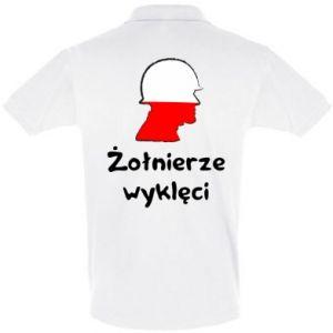 Men's Polo shirt Cursed soldiers - flag of Poland - PrintSalon