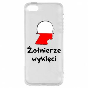 Phone case for iPhone 5/5S/SE Cursed soldiers - flag of Poland - PrintSalon
