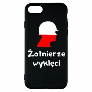 Phone case for iPhone 8 Cursed soldiers - flag of Poland - PrintSalon