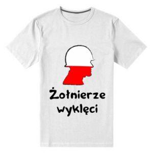 Men's premium t-shirt Cursed soldiers - flag of Poland - PrintSalon