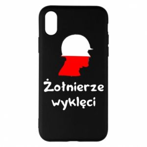 Phone case for iPhone X/Xs Cursed soldiers - flag of Poland - PrintSalon