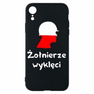 Phone case for iPhone XR Cursed soldiers - flag of Poland - PrintSalon