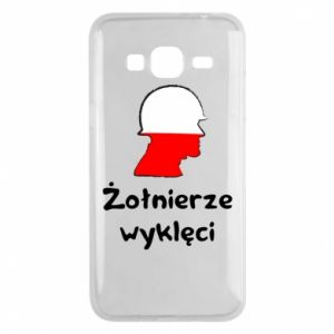 Phone case for Samsung J3 2016 Cursed soldiers - flag of Poland - PrintSalon
