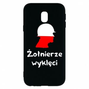 Phone case for Samsung J3 2017 Cursed soldiers - flag of Poland - PrintSalon