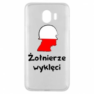 Phone case for Samsung J4 Cursed soldiers - flag of Poland - PrintSalon