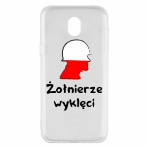 Phone case for Samsung J5 2017 Cursed soldiers - flag of Poland - PrintSalon