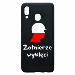 Phone case for Samsung A20 Cursed soldiers - flag of Poland - PrintSalon