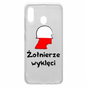 Phone case for Samsung A30 Cursed soldiers - flag of Poland - PrintSalon
