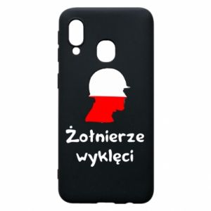 Phone case for Samsung A40 Cursed soldiers - flag of Poland - PrintSalon