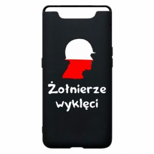 Phone case for Samsung A80 Cursed soldiers - flag of Poland - PrintSalon