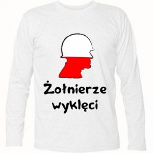 Long Sleeve T-shirt Cursed soldiers - flag of Poland - PrintSalon