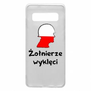 Phone case for Samsung S10 Cursed soldiers - flag of Poland - PrintSalon