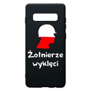 Phone case for Samsung S10+ Cursed soldiers - flag of Poland - PrintSalon