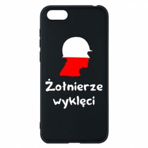 Phone case for Huawei Y5 2018 Cursed soldiers - flag of Poland - PrintSalon