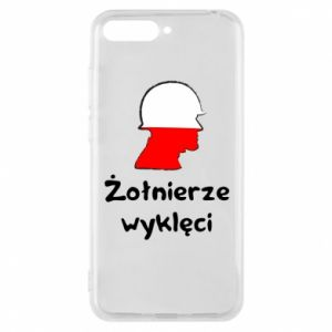 Phone case for Huawei Y6 2018 Cursed soldiers - flag of Poland - PrintSalon