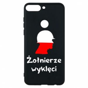 Phone case for Huawei Y7 Prime 2018 Cursed soldiers - flag of Poland - PrintSalon