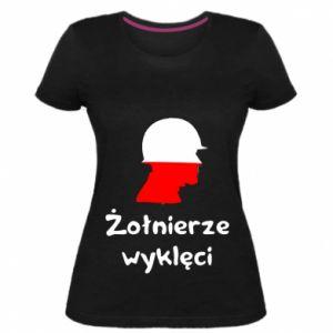 Women's premium t-shirt Cursed soldiers - flag of Poland - PrintSalon