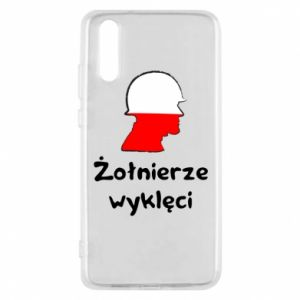 Phone case for Huawei P20 Cursed soldiers - flag of Poland - PrintSalon