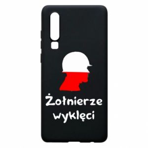 Phone case for Huawei P30 Cursed soldiers - flag of Poland - PrintSalon