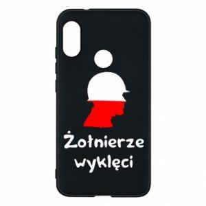Phone case for Mi A2 Lite Cursed soldiers - flag of Poland - PrintSalon