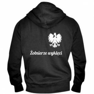Męska bluza z kapturem na zamek Polska. Żołnierze wyklęci