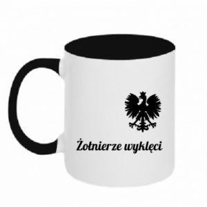 Two-toned mug Poland. Cursed soldiers