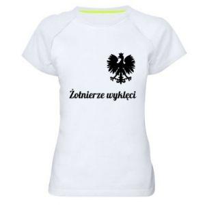 Damska koszulka sportowa Polska. Żołnierze wyklęci