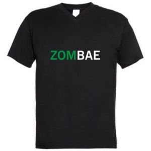 Men's V-neck t-shirt Zombae - PrintSalon