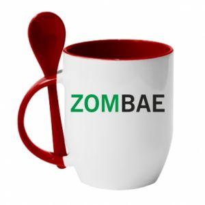 Mug with ceramic spoon Zombae - PrintSalon