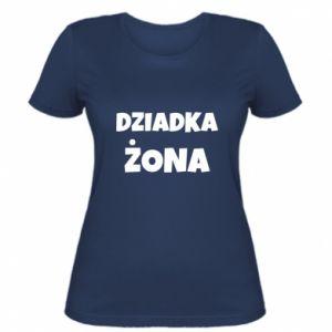 Women's t-shirt Grandfather's wife - PrintSalon