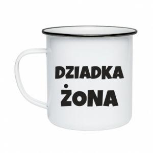 Enameled mug Grandfather's wife - PrintSalon