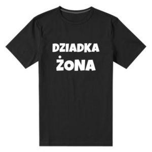 Męska premium koszulka Żona dziadka