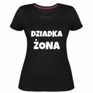 Women's premium t-shirt Grandfather's wife - PrintSalon