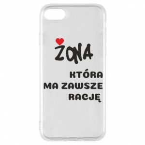 Phone case for iPhone 8 A wife who is always right - PrintSalon