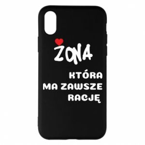 Phone case for iPhone X/Xs A wife who is always right - PrintSalon