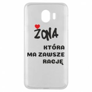 Phone case for Samsung J4 A wife who is always right - PrintSalon