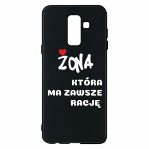 Phone case for Samsung A6+ 2018 A wife who is always right - PrintSalon