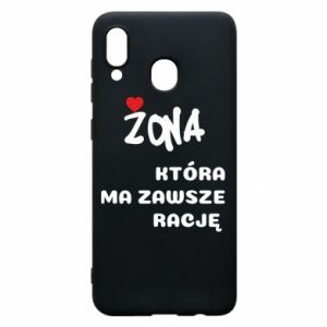 Phone case for Samsung A20 A wife who is always right - PrintSalon