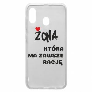 Phone case for Samsung A30 A wife who is always right - PrintSalon