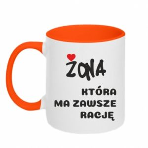 Two-toned mug A wife who is always right - PrintSalon
